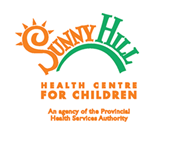 Image shows the Sunny Hill Health Centre for Children logo.